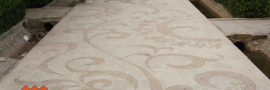 طراحی بر روی کف فرش